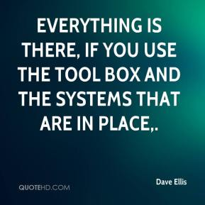 Everything is there, if you use the tool box and the systems that are in place.