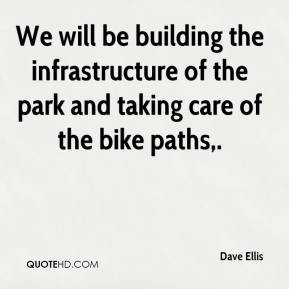 Dave Ellis - We will be building the infrastructure of the park and taking care of the bike paths.