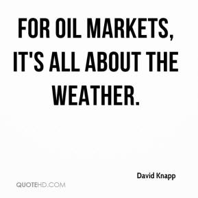 For oil markets, it's all about the weather.