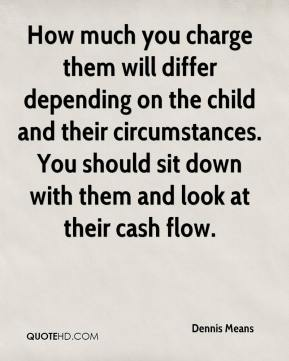 Dennis Means - How much you charge them will differ depending on the child and their circumstances. You should sit down with them and look at their cash flow.