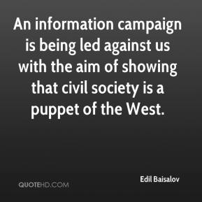 Edil Baisalov - An information campaign is being led against us with the aim of showing that civil society is a puppet of the West.
