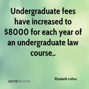 Undergraduate fees have increased to $8000 for each year of an undergraduate law course.