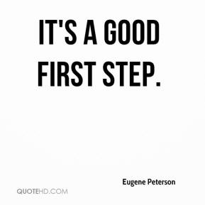 It's a good first step.
