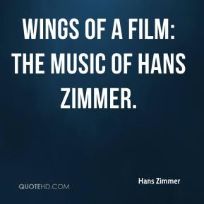 Hans Zimmer - Wings of a Film: The Music of Hans Zimmer.
