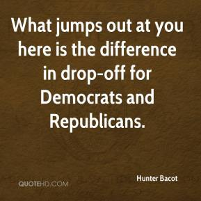 What jumps out at you here is the difference in drop-off for Democrats and Republicans.