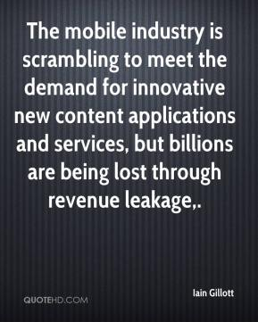 The mobile industry is scrambling to meet the demand for innovative new content applications and services, but billions are being lost through revenue leakage.