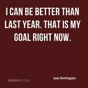 I can be better than last year. That is my goal right now.