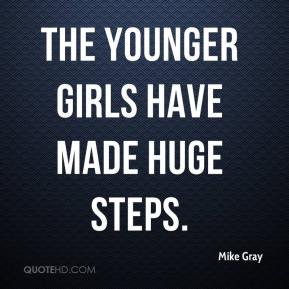 Mike Gray  - The younger girls have made huge steps.