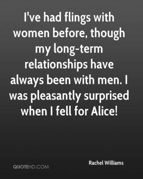 I've had flings with women before, though my long-term relationships have always been with men. I was pleasantly surprised when I fell for Alice!