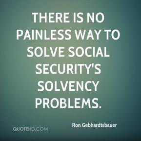 How would you fix Social Security's big problems?