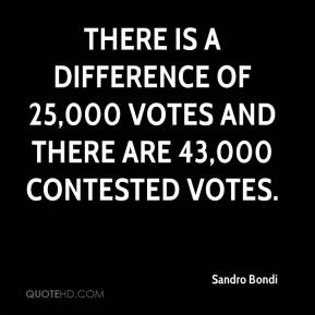 Sandro Bondi  - There is a difference of 25,000 votes and there are 43,000 contested votes.