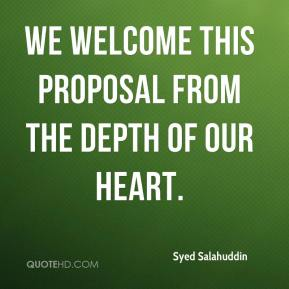 We welcome this proposal from the depth of our heart.