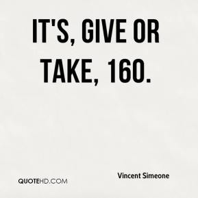 It's, give or take, 160.