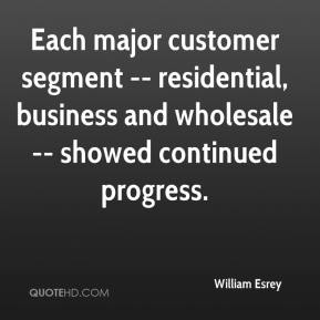 William Esrey  - Each major customer segment -- residential, business and wholesale -- showed continued progress.