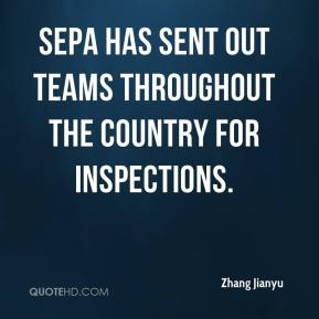 SEPA has sent out teams throughout the country for inspections.