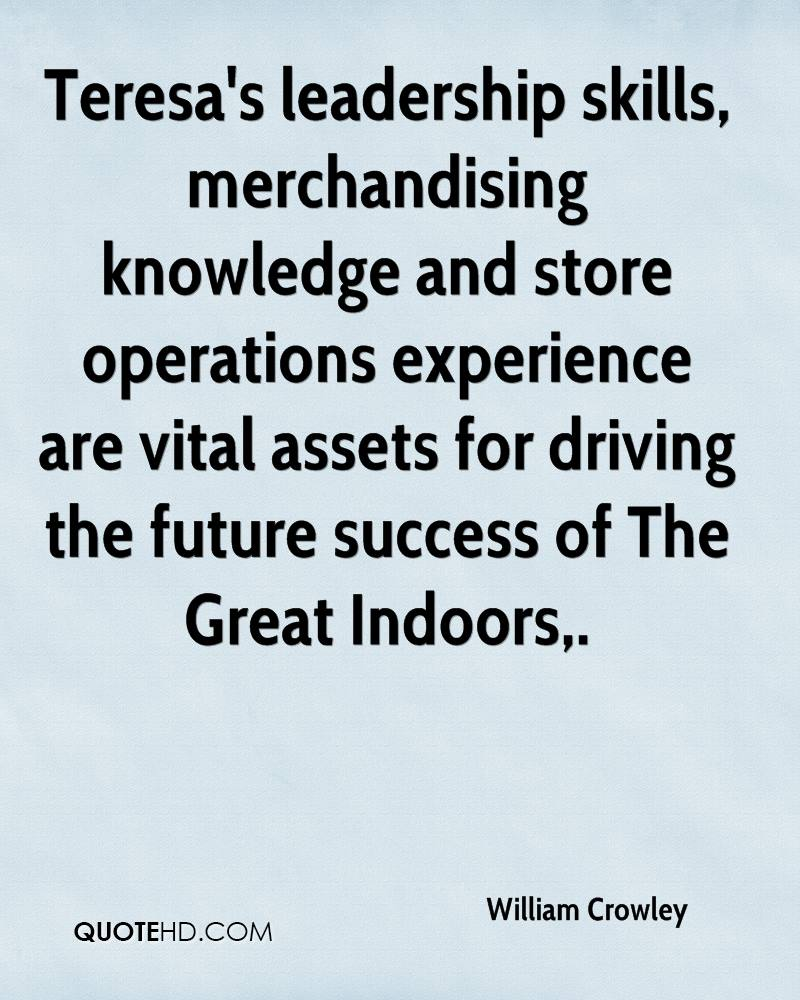 Teresa's leadership skills, merchandising knowledge and store operations experience are vital assets for driving the future success of The Great Indoors.