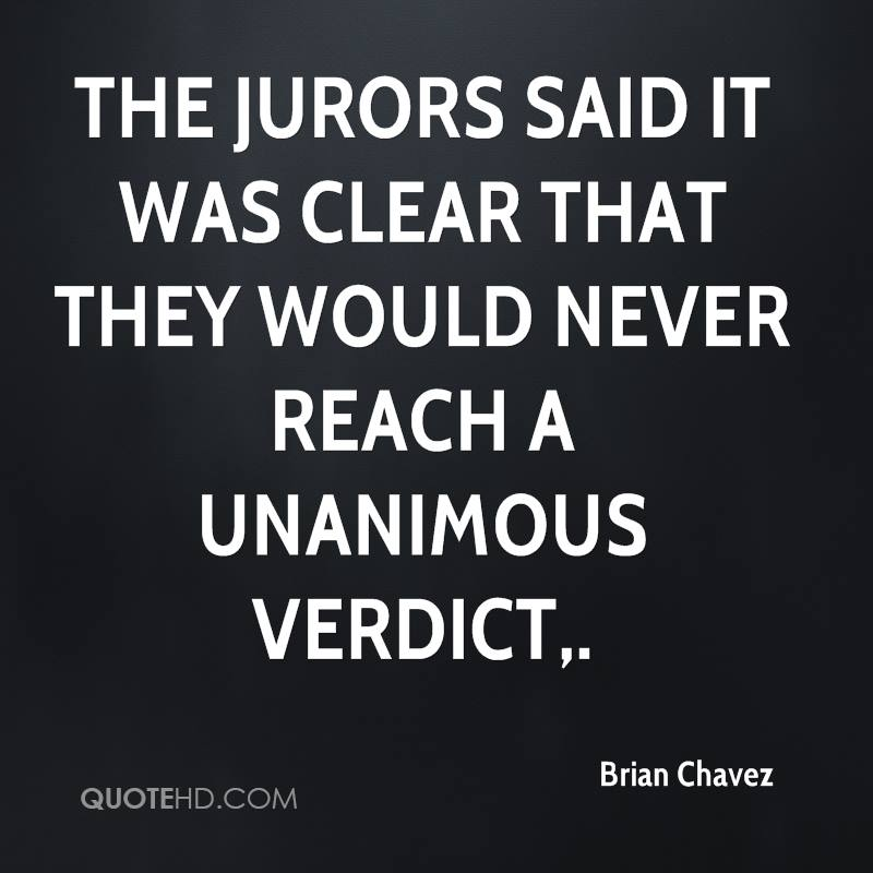 The jurors said it was clear that they would never reach a unanimous verdict.