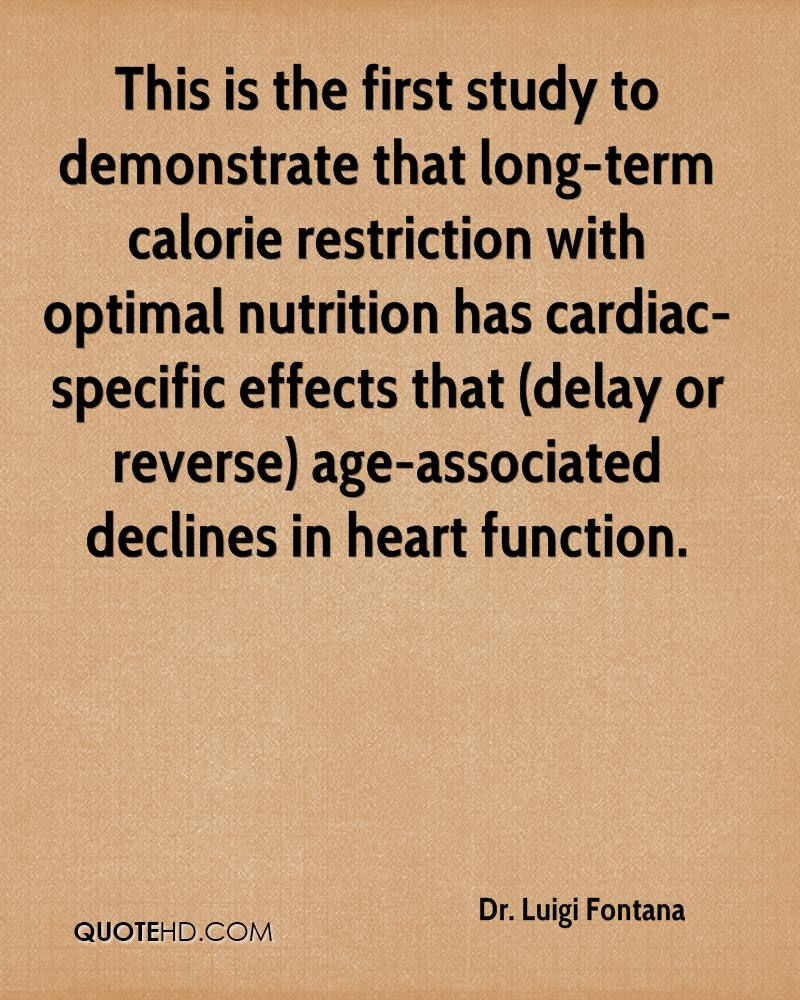 This is the first study to demonstrate that long-term calorie restriction with optimal nutrition has cardiac-specific effects that (delay or reverse) age-associated declines in heart function.