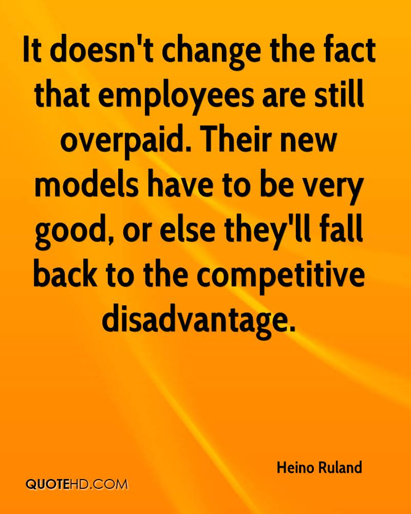 It doesn't change the fact that employees are still overpaid. Their new models have to be very good, or else they'll fall back to the competitive disadvantage.