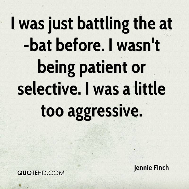 I was just battling the at-bat before. I wasn't being patient or selective. I was a little too aggressive.