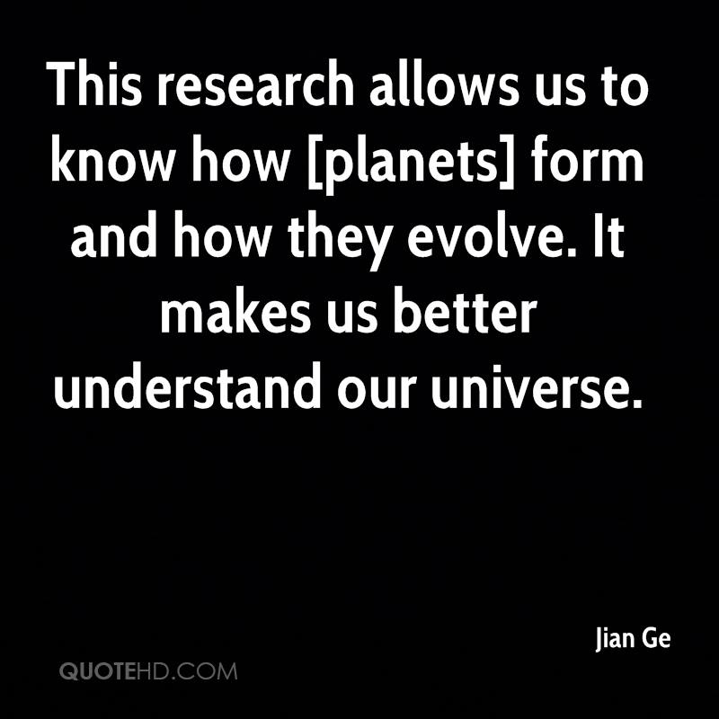 This research allows us to know how [planets] form and how they evolve. It makes us better understand our universe.