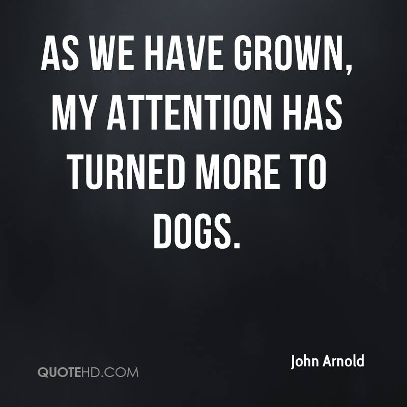 As we have grown, my attention has turned more to dogs.