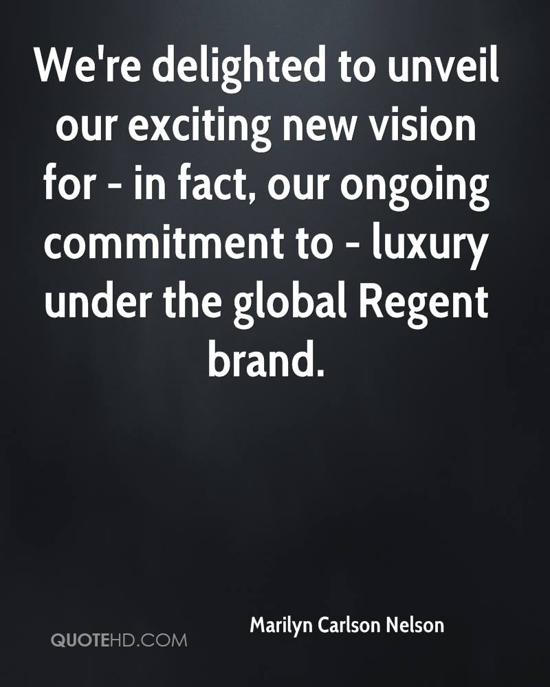 We're delighted to unveil our exciting new vision for - in fact, our ongoing commitment to - luxury under the global Regent brand.