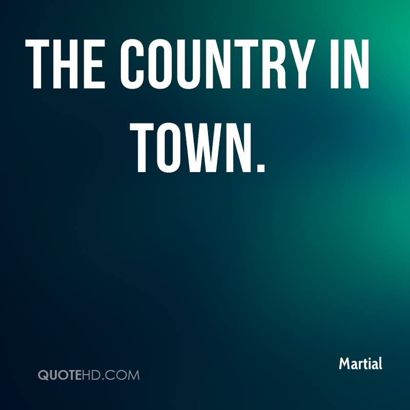 The country in town.