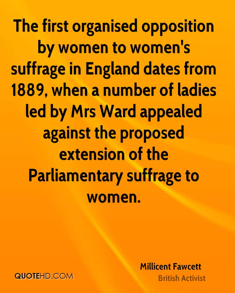 Women's Suffrage Quotes Millicent Fawcett Quotes  Quotehd