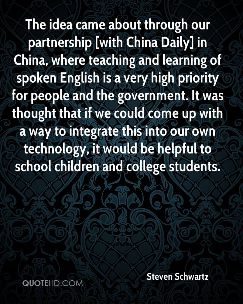 The idea came about through our partnership [with China Daily] in China, where teaching and learning of spoken English is a very high priority for people and the government. It was thought that if we could come up with a way to integrate this into our own technology, it would be helpful to school children and college students.