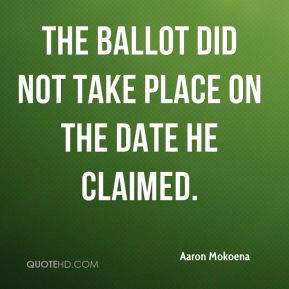The ballot did not take place on the date he claimed.