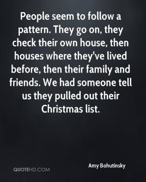 Amy Bohutinsky - People seem to follow a pattern. They go on, they check their own house, then houses where they've lived before, then their family and friends. We had someone tell us they pulled out their Christmas list.