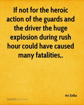 Avi Zelba - If not for the heroic action of the guards and the driver the huge explosion during rush hour could have caused many fatalities.
