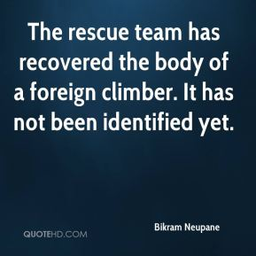 Bikram Neupane - The rescue team has recovered the body of a foreign climber. It has not been identified yet.