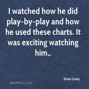 Brian Corey - I watched how he did play-by-play and how he used these charts. It was exciting watching him.