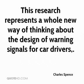 Charles Spence - This research represents a whole new way of thinking about the design of warning signals for car drivers.
