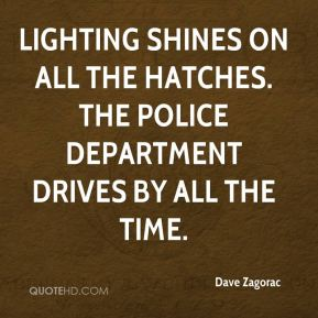 Dave Zagorac - Lighting shines on all the hatches. The Police Department drives by all the time.
