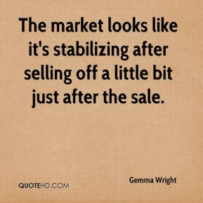 Gemma Wright - The market looks like it's stabilizing after selling off a little bit just after the sale.