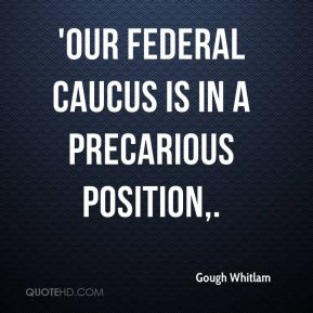 'Our federal caucus is in a precarious position.