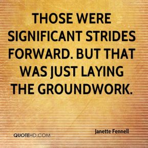 Janette Fennell  - Those were significant strides forward. But that was just laying the groundwork.