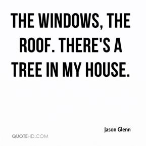Jason Glenn - The windows, the roof. There's a tree in my house.