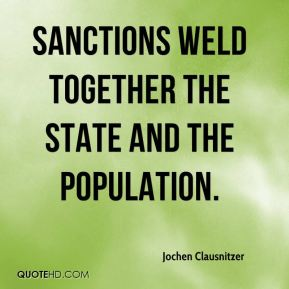 Jochen Clausnitzer  - Sanctions weld together the state and the population.