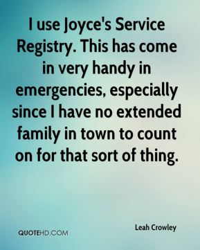 I use Joyce's Service Registry. This has come in very handy in emergencies, especially since I have no extended family in town to count on for that sort of thing.