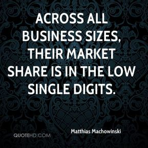 Matthias Machowinski  - Across all business sizes, their market share is in the low single digits.