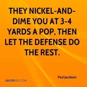 They nickel-and-dime you at 3-4 yards a pop, then let the defense do the rest.