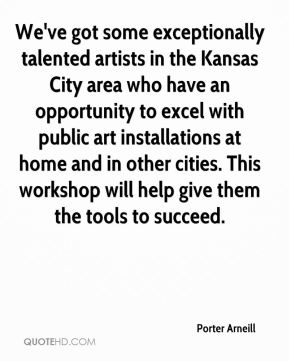We've got some exceptionally talented artists in the Kansas City area who have an opportunity to excel with public art installations at home and in other cities. This workshop will help give them the tools to succeed.