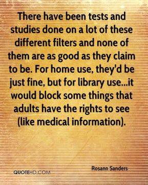 There have been tests and studies done on a lot of these different filters and none of them are as good as they claim to be. For home use, they'd be just fine, but for library use...it would block some things that adults have the rights to see (like medical information).