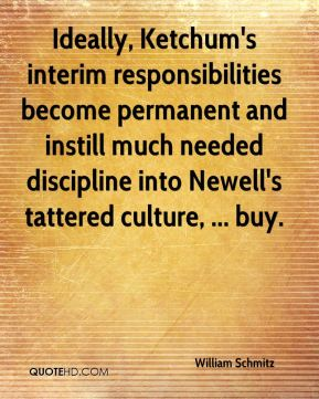 Ideally, Ketchum's interim responsibilities become permanent and instill much needed discipline into Newell's tattered culture, ... buy.