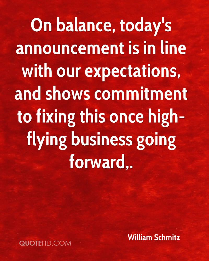 On balance, today's announcement is in line with our expectations, and shows commitment to fixing this once high-flying business going forward.
