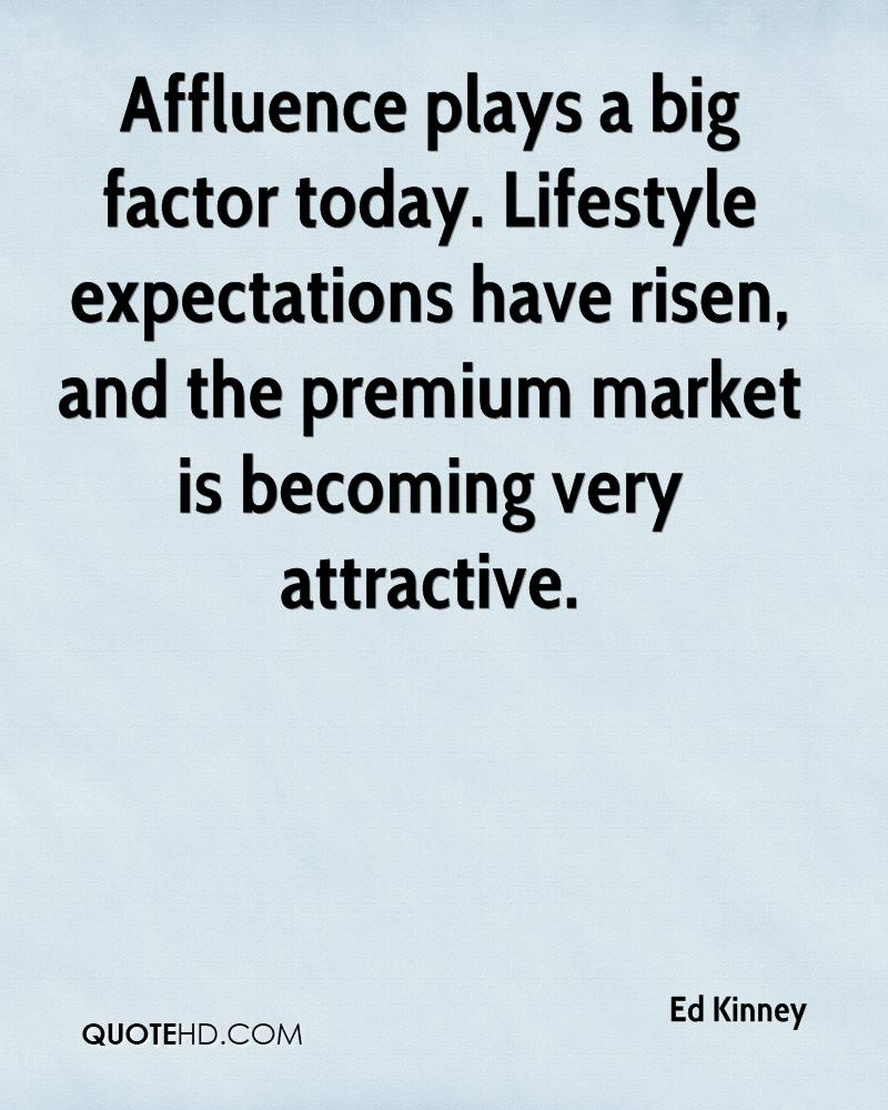 Affluence plays a big factor today. Lifestyle expectations have risen, and the premium market is becoming very attractive.